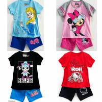 Setelan kaos baju anak perempuan size 1 2 3 4 5 6 7 8 9 10 tahun #2261