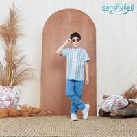 Setelan Baju Koko Anak 5 - 13 Tahun . Busana Muslim Import . SNES-62