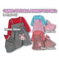 Baju Gamis Anak Overal Bunny Dress Kotak2 Muslim Anak Hijab 9-18 Bulan