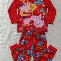 Baju Setelan Piyama Anak Caluby Laki-Laki Perempuan Peppa Pig Murah