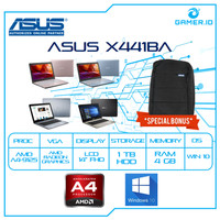 LAPTOP ASUS X441BA - AMD A4 9125 4GB 1TB VGA AMD R3 14 WIN10 MURAH