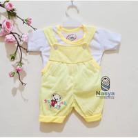 0028 Kuning - Setelan murah baju bayi perempuan 0-6 bulan model Kodok