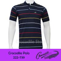 Kaos Kerah Polo Slim Fit Pria Crocodile 222-739 - Biru, M