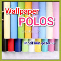 WALLPAPER STICKER STIKER DINDING POLOS PUTIH HITAM YELLOW BIRU PINK