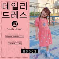 HOOFLA Kids - Kaos DRESS Anak Perempuan - Daily Dress Anak Lucu HDD