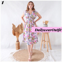 Baju Pantai Bali Dress Pantai Bali Darcy Vneck Floral