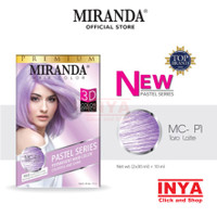 MIRANDA PASTEL SERIES MC-P1 TARO LATTE 2x30ml+10ml - Semir Rambut