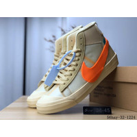 Sepatu Nike Blazer X Off Whitte Hallows Eve Guaranteed Store - 40, Orange