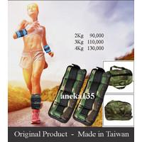 Original Taiwan 2kg adjustable pemberat kaki bending / Ankle weights