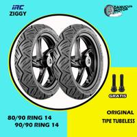 Paket Ban Motor Matic // IRC NR90 ZIGGY 80/90 - 90/90 Ring 14 Tubeless