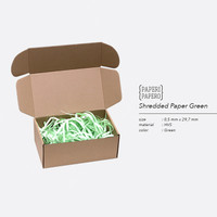 Shredded Paper / Kertas Potong Cacah Serut - Green