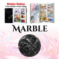STICKER/STIKER KULKAS 2 PINTU MOTIF MARMER MARBLE BAHAN VINYL PREMIUM