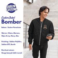 Custom Jaket Bomber (sablon DTF, Sablon Polyflex, Bordir) bisa satuan - Poly A4