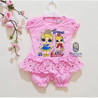 0095- LOL ,Setelan murah baju sehari-hari bayi perempuan 0-6 bulan