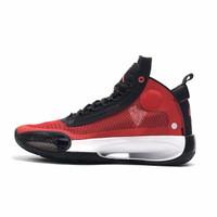 Sepatu Basket Nike Air Jordan 34 Red Black