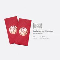 Red Amplop Angpao Shuangxi Merah (Double Happines) - Imlek/Pernikahan