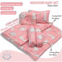 Badcover bayi set bantal guling bayi