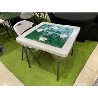 Krisbow meja mahjong /meja poker/meja lipat serbaguna/Meja teras