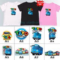 kaos baju anak TAYO BANYAK MOTIF ( FREE NAMA ) / KAOS UNISEX ANAK