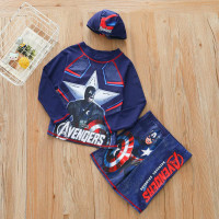 Baju renang anak laki laki motif avenger atasan+bawahan