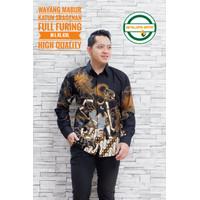 Wayang mabur Aljaya kemeja batik solo pria lengan panjang premium Seto