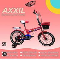 Sepeda lipat anak ukuran 16,ada roda bantu dan keranjang .Ban motif
