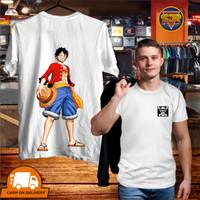 SJR T Shirt KAOS DISTRO PRIA SABLON COTTON COMBED 28s MONKEY D-LUFFY
