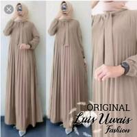 BAJU GAMIS WANITA DRESS PLISKET LONG DRESSPLISKET MURAH
