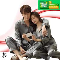 JCFashion Stelan PP Couple Piyama Satin Promo Hemat