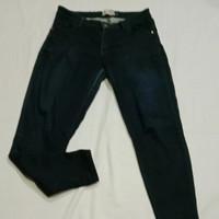 celana jeans denim NEVADA wanita pria size L 30 31 biru Dongker