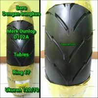 Ban motor tubles ring 17 Dunlop ukuran 120/70 ban belakang vixion