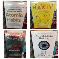 paket promo buku motifasi ATOMIC Habits,Habit,Homo Deus dan 21 Lessons