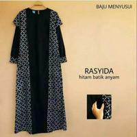 Baju Muslim Gamis Long Dress Hamil Dan Menyusui Rasyida