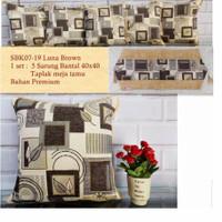 SARUNG BANTAL SOFA KURSI MEWAH PREMIUM /SBK SET SHABBY CHIC LILI BROWN