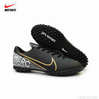 Terlaris!! Sepatu Futsal Nike Mercurial Kualitas Grad Ori - Hitam Gold, 38