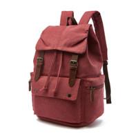 Tas Ransel Backpack Kanvas Sekolah Kerja Laptop Distro Pria Wanita