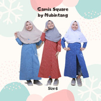 Baju Gamis Anak Muslim Perempuan Murah umur 6-10 tahun by Nubintang