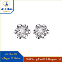 anting/giwang berlian eropa asli ORIGINALL dan emas perhiasan 75%