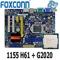 Paket Motherboard / mobo LGA 1155 H61 + Processor G2020