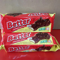 BETTER Fun Bites biskuit lapis coklat dengan krim vanilla 120gr(10pcs)