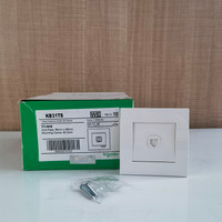 Schneider Electric Vivace 1 Gang Telephone with Shutter (KB31TS_WE)