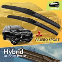 Wiper Frameless Mitsubishi Pajero Sport KaretKaca Mobil Silicon Hybrid - Front 22/18