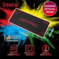 Mousepad Gamen GP-XL Anti slip with Soft Surface Black Original Resmi