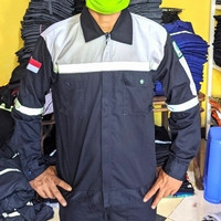 Baju proyek*wearpack*sefty*Baju welder#baju atasan kerja proyek - M