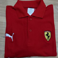Polo shirt / kaos kerah Ferrari puma logo - bordir HighQuality