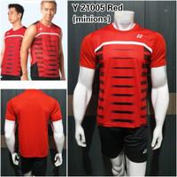 Baju duo minions badminton Y21005 Red bulutangkis grade ori Yonex