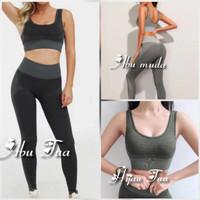 Setelan Bra dan Celana Olahraga Wanita | Baju Sport Fitnes Senam