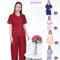 Baju seragam suster/ seragam baby sitter/ seragam nanny (piyama)