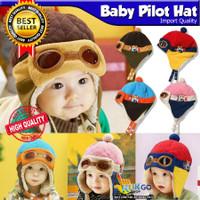 TOPI BAYI KOREAN STYLE PORORO BEANIE ANAK TOPI BABY HAT PILOT IMPORT
