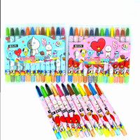Crayon Putar 12 Warna 17Cm Motif BTS / BT21
